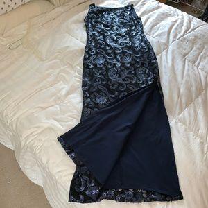 ⬇️💲🔥Ralph Lauren Navy Blue Sequined Classy Gown